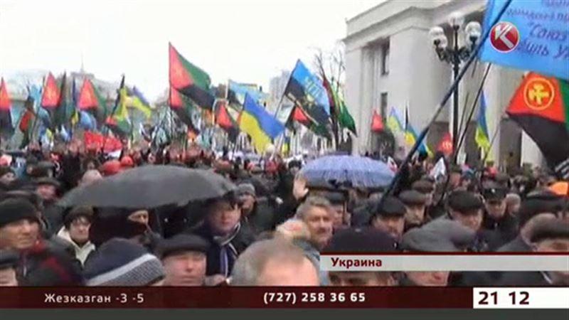 В Киеве митингуют шахтеры