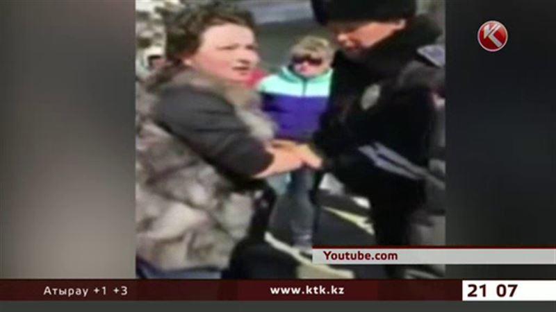 Скандал с женщиной-водителем – у полиции Алматинской области своя версия