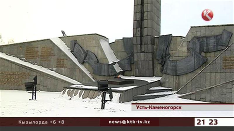 В Усть-Каменогорске в плачевном состоянии Мемориал славы