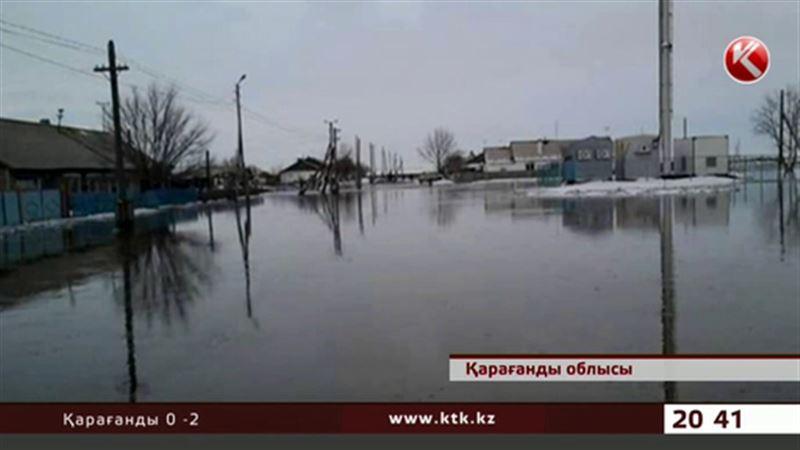 Қарағанды облысында бірнеше ауылды су басты