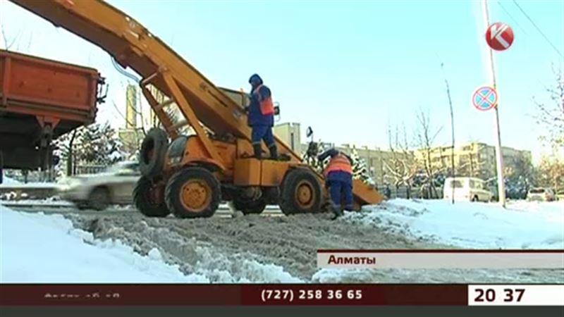 Алматыдан екі күн ішінде 11 мың текше метр қар шығарылды