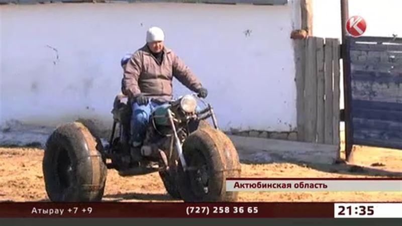 Житель актюбинской глубинки смастерил чудо-транспорт