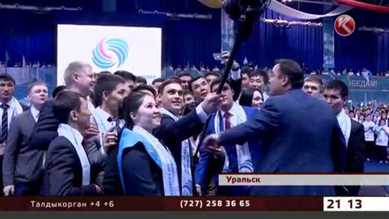 Жителям Уральска повезло – они сделали селфи с Президентом