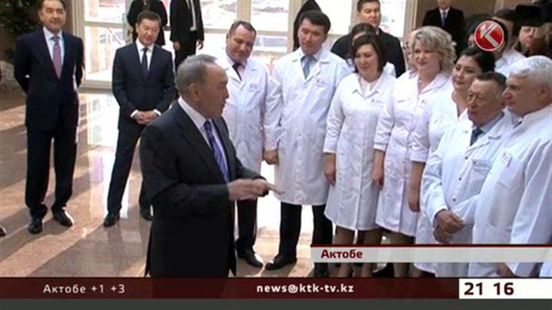 В Актобе Президент посетил новую областную больницу