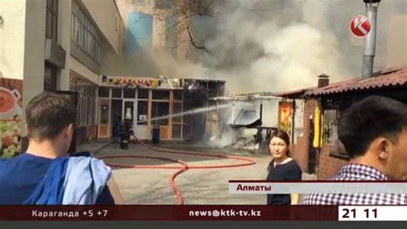 В Алматы горела популярная столовая