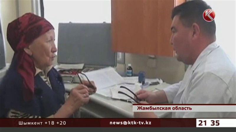 Аулчан Жамбылской области врачи обследовали прямо в поезде