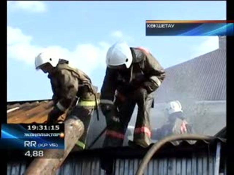 Трагедия в Кокшетау. Во время пожара погибли двое детей