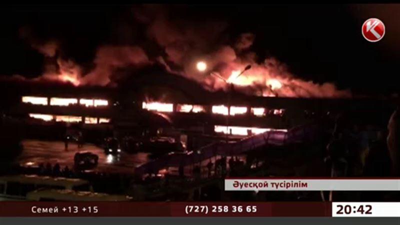 Саудагерлер Алматыдағы атақты  «Адем» базары қасақана  өртелген деген болжам айтты