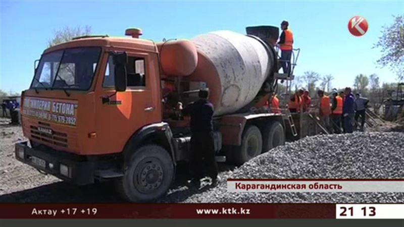 В Карагандинской области после наводнения начали строить два дома