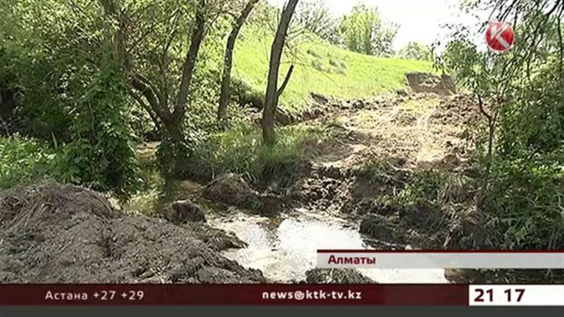 Зеленый сквер в Алматы превращается в помойку