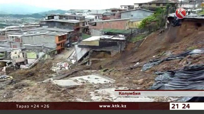 Оползень в Колумбии разрушил десятки домов, дорог и мостов