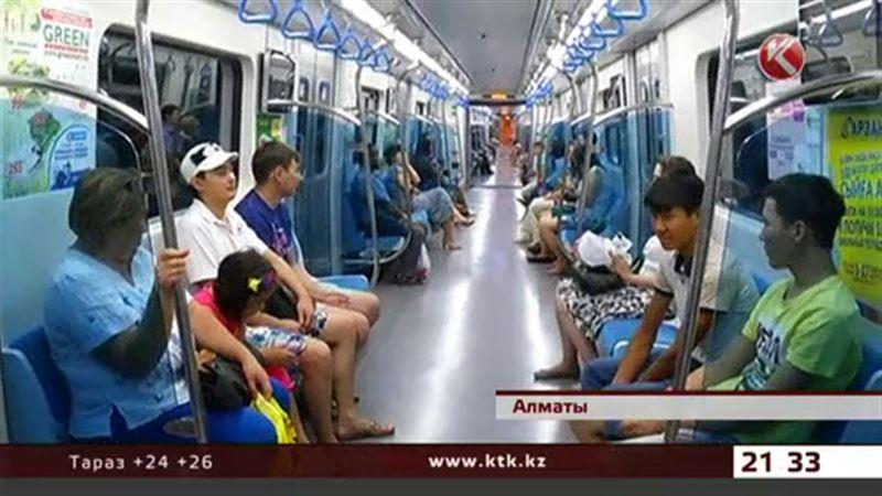 Алматинцы стали в два раза чаще ездить на метро