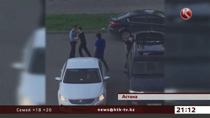 Пьяные молодчики избили и чуть не задавили полицейских в центре столицы