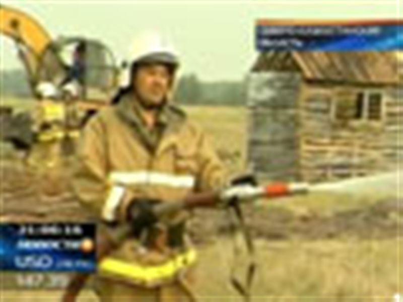 Соседство с Россией вынудило власти Северного Казахстана устроить широкомасштабные учения пожарных