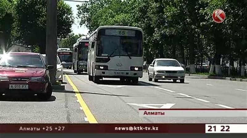 Отдельную полосу для автобусов в Алматы оборудуют камерами