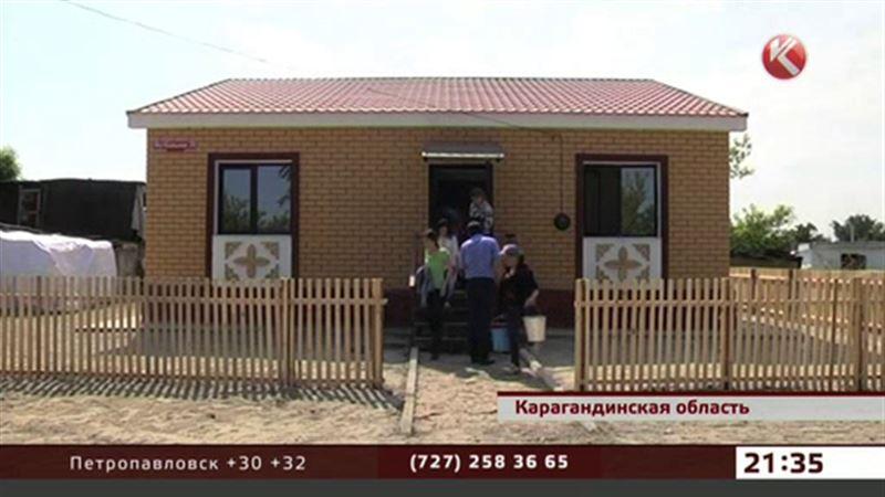 В пострадавшем от паводка карагандинском поселке сдали два дома из четырехсот