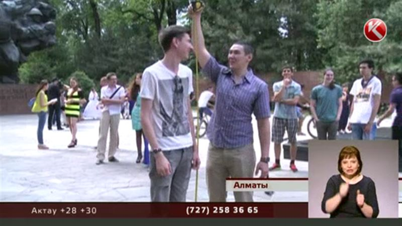 В Алматы собрались самые высокие люди Казахстана