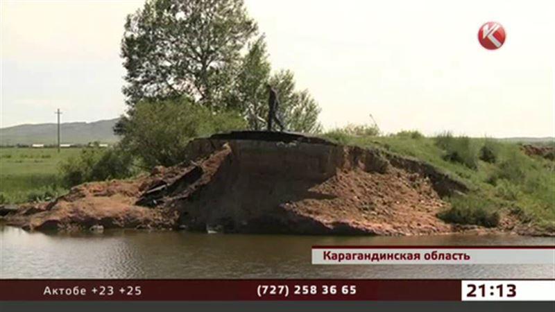 В Карагандинской области люди гибнут в яме, вымытой паводками
