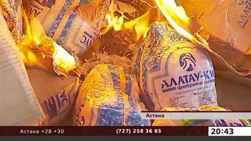 Астанада ветеринарлар ауру жұқтырған құс етін өртеп  жіберді