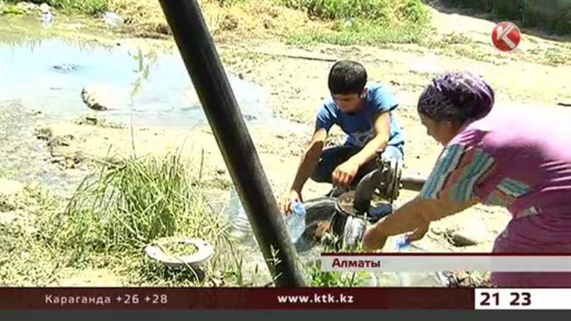 Две недели нет воды в одном из районов Алматы
