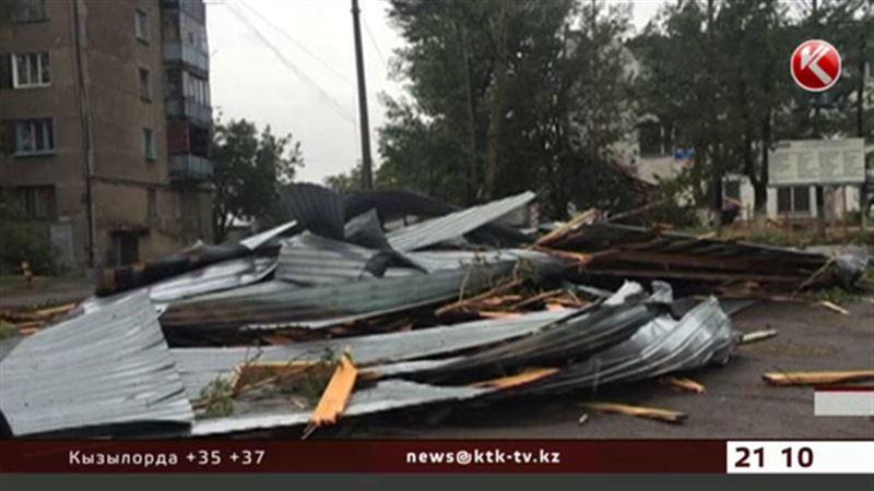 Ураган оставил Экибастуз без крыш