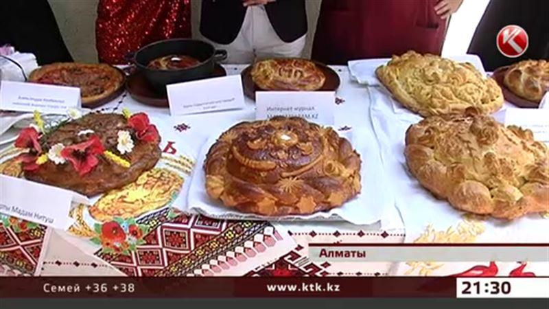 Мисс Казахстан закормили сдобой на конкурсе караваев