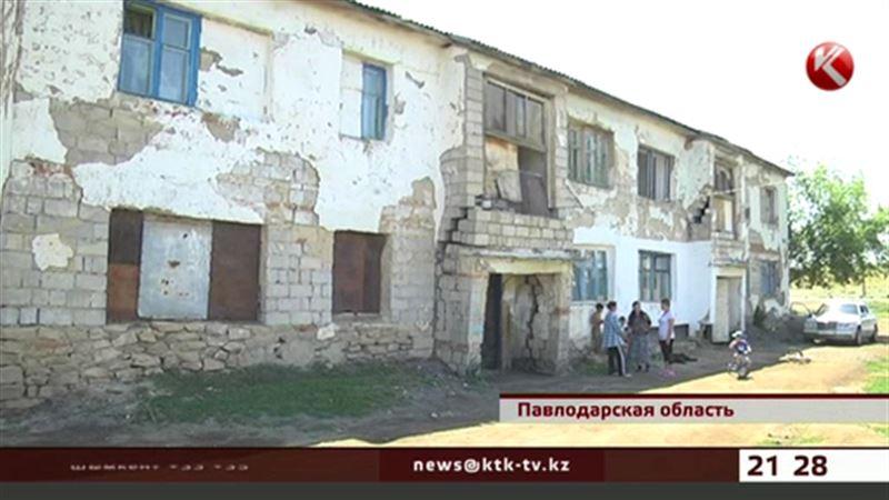 Баянаульские матери-одиночки живут в полувековом здании, которое вот-вот рухнет