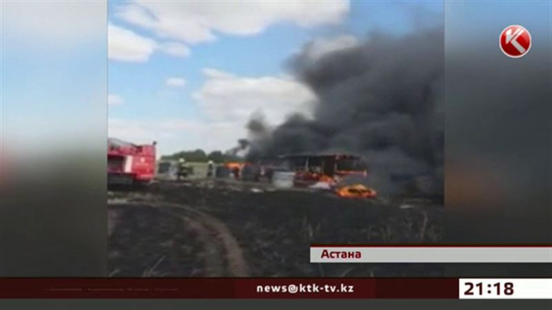 Пожар едва не уничтожил пейнтбольный клуб под Астаной