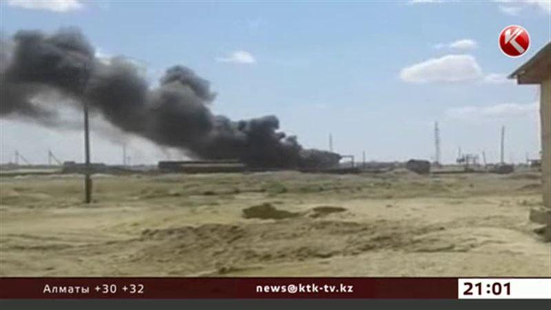 На территории АЗС в Кызылординской области произошел взрыв