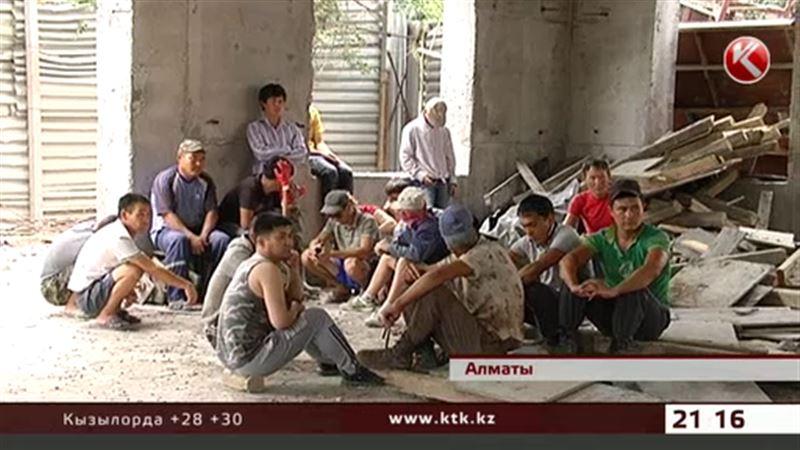 Налоговики вылавливали нелегалов на алматинских стройках