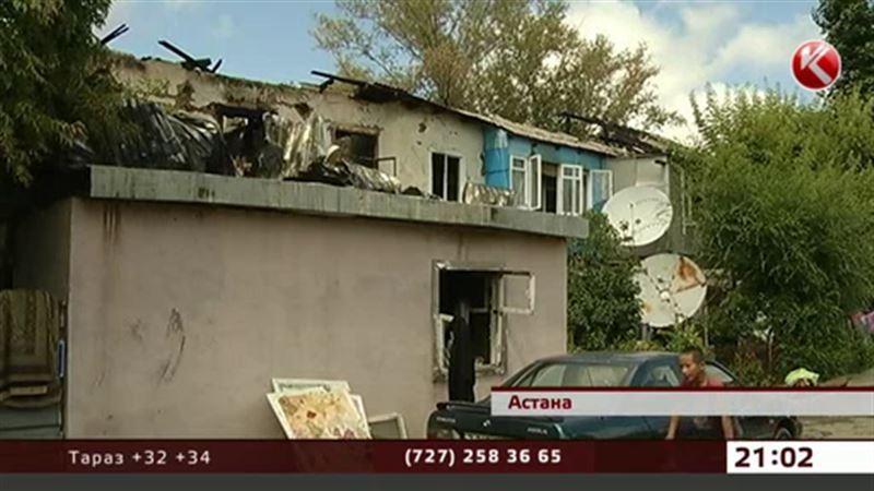 В огне пожара заживо сгорела астанинская пенсионерка