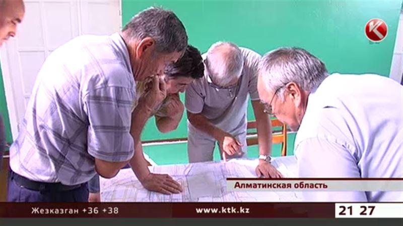В Алматинской области жителям продали землю, отведенную под коммуникации