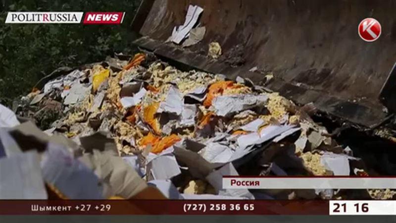 Россия сыта по горло: в землю вкатывают тонны сыра, фруктов и мяса