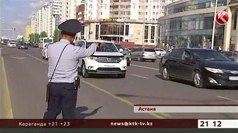 За выезд на автобусные полосы в Астане начали штрафовать
