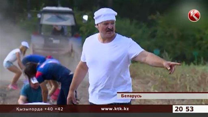 Лукашенко жексенбілік демалысын қолына күрек ұстап өткізді