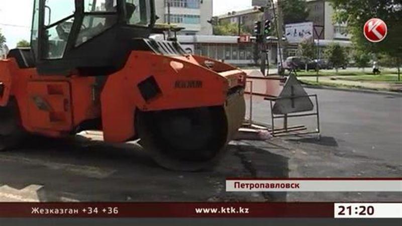 Перед приграничным саммитом в Петропавловске ремонтируют дороги, как всегда, одни и те же