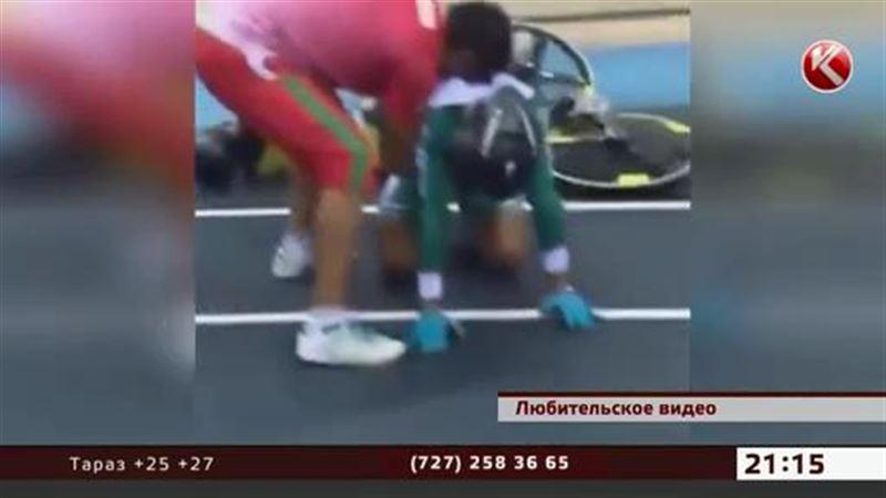 В Астане на чемпионате мира по велоспорту произошел массовый завал