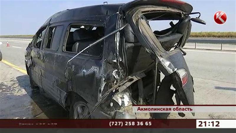 Один человек погиб, шестеро получили ранения в аварии под Астаной