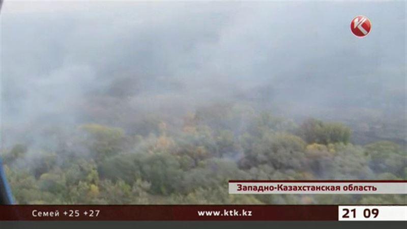 Крупнейший пожар в Западно-Казахстанской области