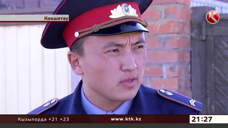 В Кокшетау сержант полиции спас из огня четверых детей и их мать