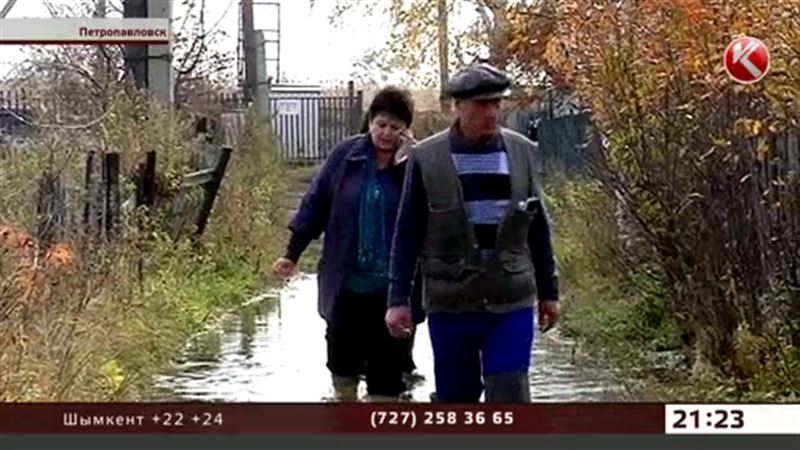 Техническая вода затопила дачи в Петропавловске, погиб урожай