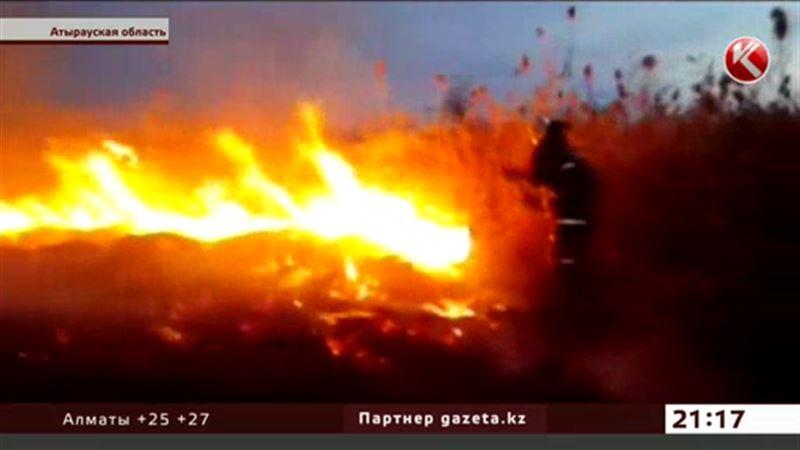 100 гектаров степи выгорело в Атырауской области