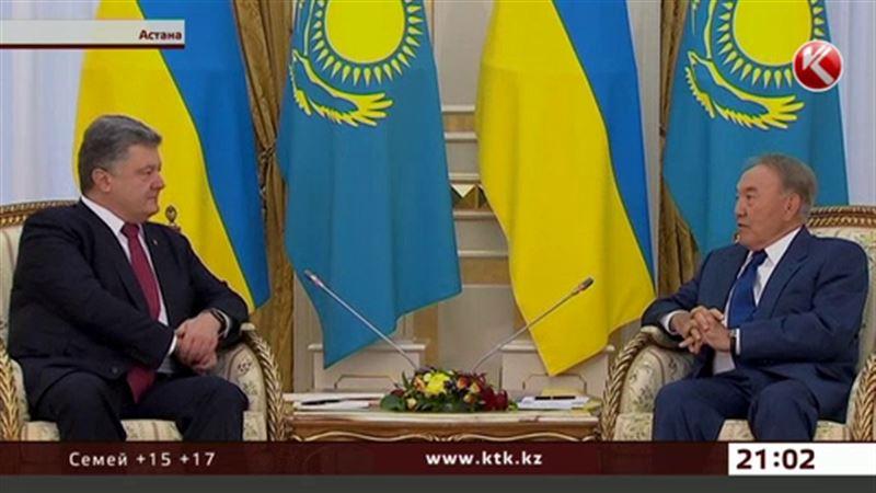 Порошенко просит у Назарбаева тепла