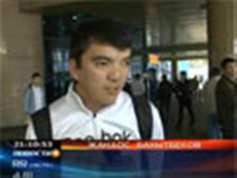 В Алматы из Америки вернулся Жандос Бахытбеков