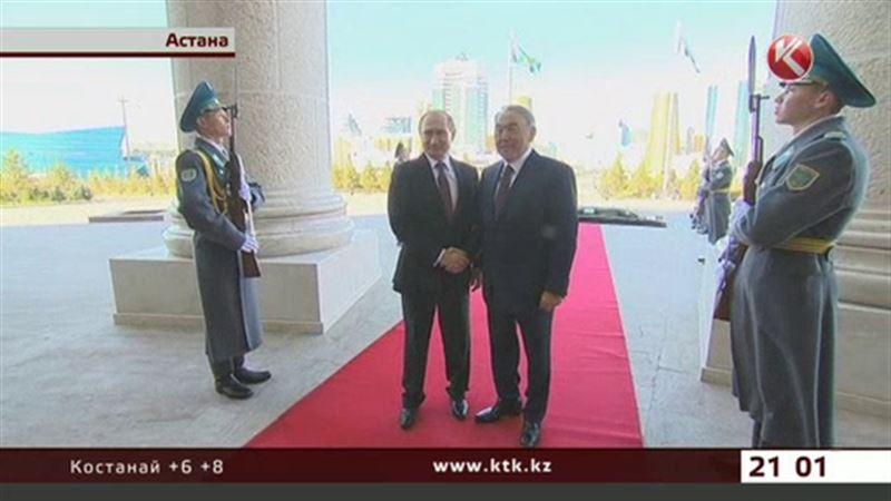 Путин поднял тост за здоровье казахстанского президента