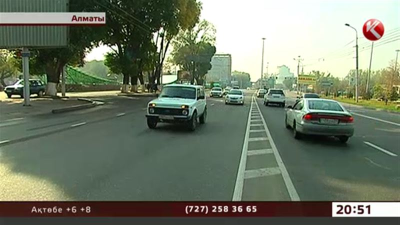 Алматыда арнайы автобус жолақтарының кесірінен шу шығып жатыр