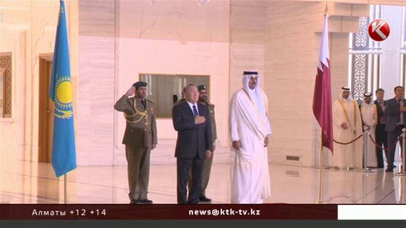 Президент Казахстана встретился с эмиром Катара