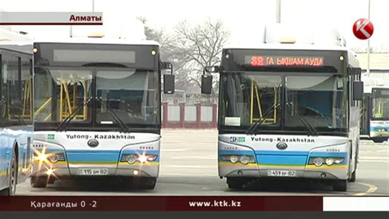 Алматыда бағыты өзгерген автобус жүргізушілері жұмысқа шықпай қойды