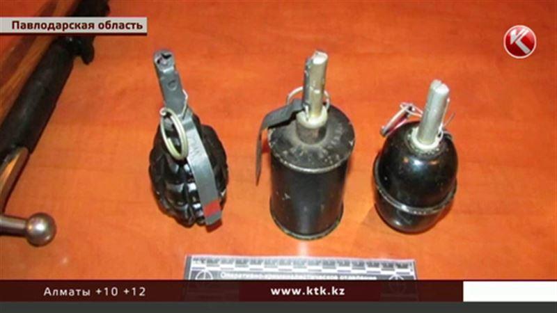 Нешуточный арсенал хранил в своем гараже житель Экибастуза