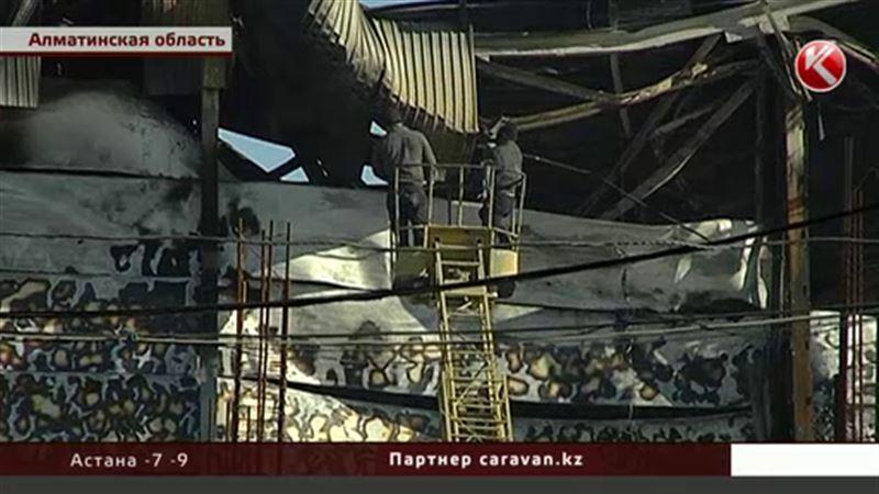 В Алматинской области тушили цех по производству мороженого